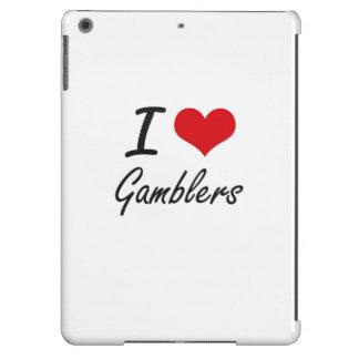 Eu amo jogadores capa para iPad air