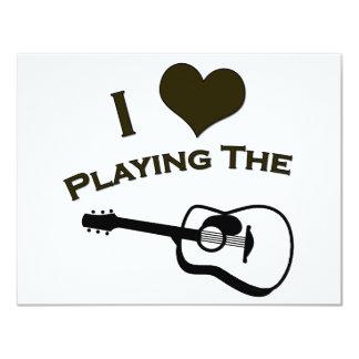 Eu amo jogar a guitarra convite