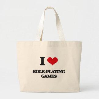 Eu amo jogos de interpretação de personagem bolsas para compras