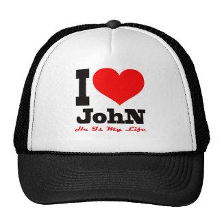Eu amo John. É minha vida Boné