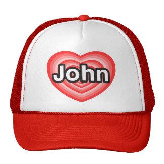 Eu amo John. Eu te amo John. Coração Boné