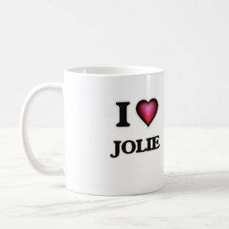 Eu amo Jolie Caneca De Café
