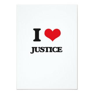 Eu amo justiça convite 12.7 x 17.78cm
