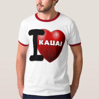 Eu amo Kauai Havaí Camiseta