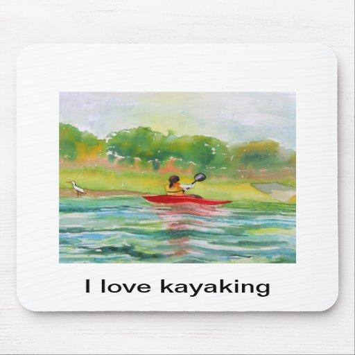 Eu amo kayaking mousepads