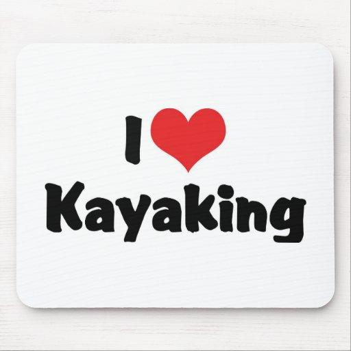 Eu amo Kayaking Mousepad