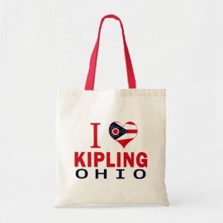 Eu amo Kipling Ohio Bolsa De Lona
