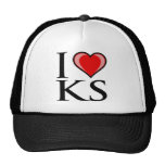 Eu amo KS - Kansas Boné