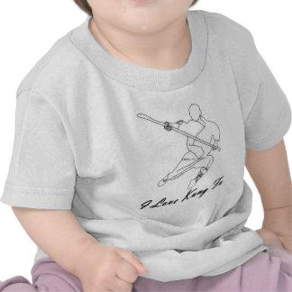 Eu amo Kung Fu Camisetas