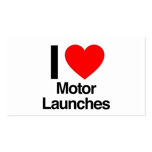 eu amo lançamentos do moto cartoes de visita