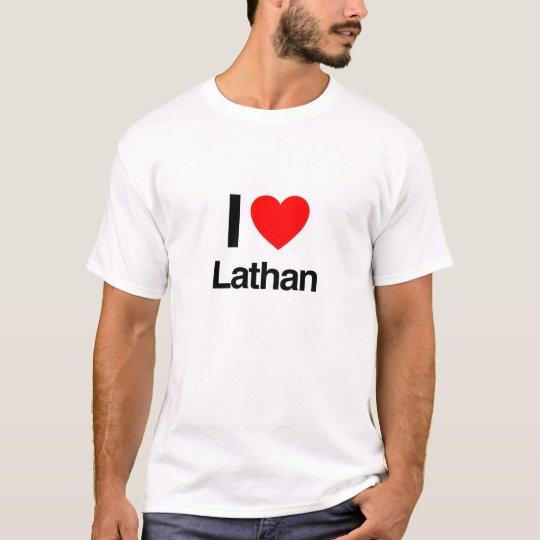 eu amo Lathan Camiseta