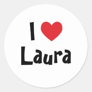 Eu amo Laura Adesivos Em Formato Redondos