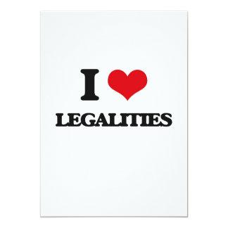 Eu amo legalidades convite 12.7 x 17.78cm