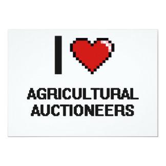 Eu amo leiloeiros agrícolas convite 12.7 x 17.78cm