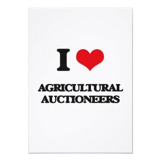 Eu amo leiloeiros agrícolas convites personalizado