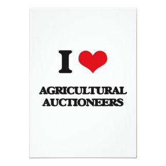Eu amo leiloeiros agrícolas convite personalizados