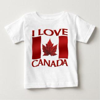 Eu amo lembranças do bebê de Canadá da camisa do T-shirt