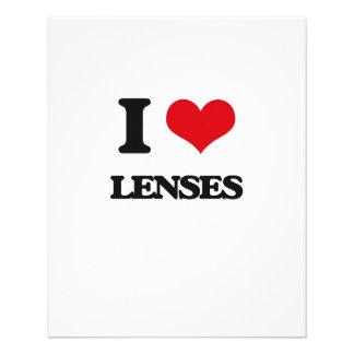 Eu amo lentes panfleto