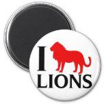 Eu amo leões imas de geladeira