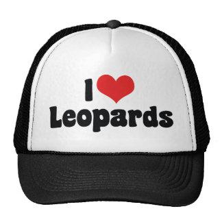 Eu amo leopardos do coração boné