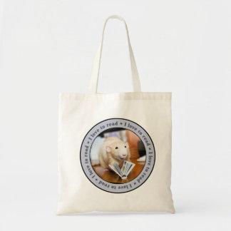 EU AMO LER a sacola que caracteriza o rato de Mart Sacola Tote Budget