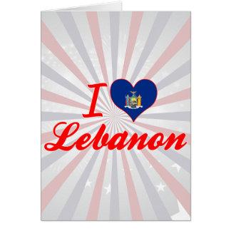 Eu amo Líbano, New York Cartao