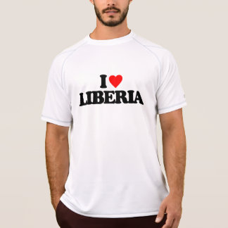 EU AMO LIBERIA CAMISETAS