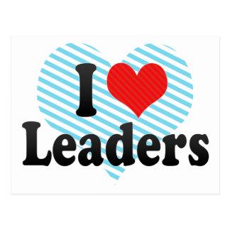 Eu amo líderes cartões postais
