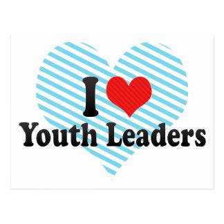 Eu amo líderes da juventude cartão postal