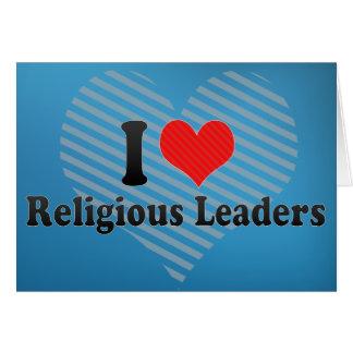 Eu amo líderes religiosos cartão