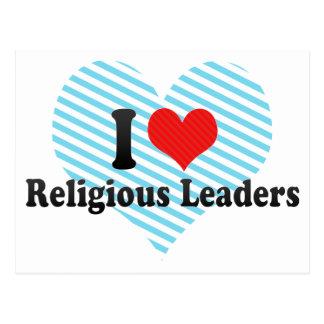 Eu amo líderes religiosos cartoes postais