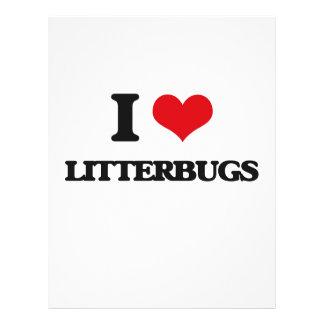 Eu amo Litterbugs Panfletos Personalizado