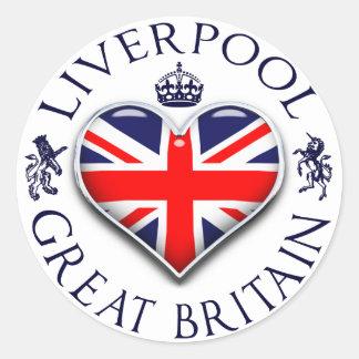 Eu amo Liverpool Adesivo Redondo