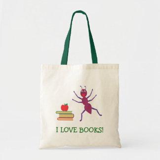 Eu amo livros bolsa para compras