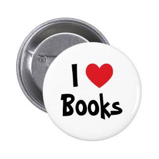 Eu amo livros bóton redondo 5.08cm