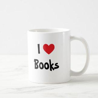 Eu amo livros caneca de café