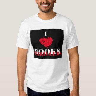 Eu amo livros do filme policial t-shirts
