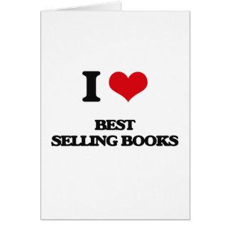 Eu amo livros êxitos de vendas cartão comemorativo