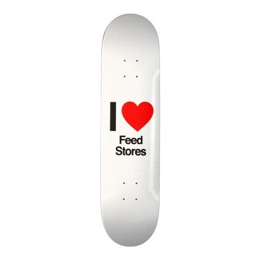 eu amo lojas da alimentação skate
