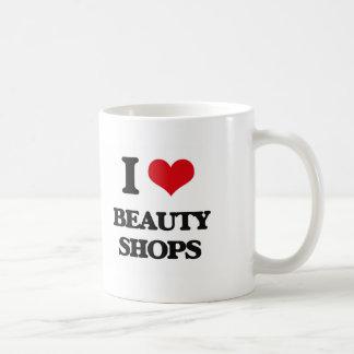 Eu amo lojas de beleza caneca