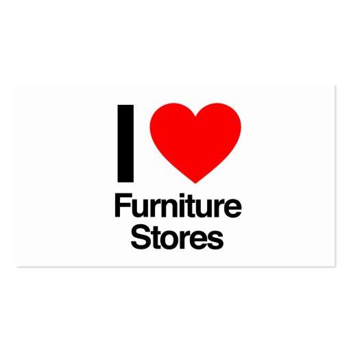 eu amo lojas de móveis modelo cartoes de visita
