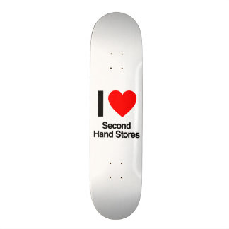 eu amo lojas de segunda mão skate personalizado