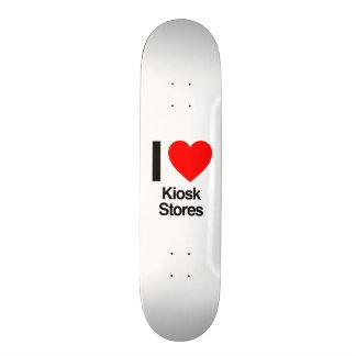 eu amo lojas do quiosque skateboard