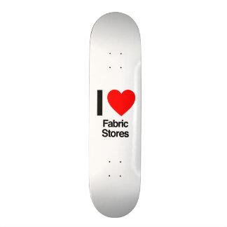 eu amo lojas do tecido skate