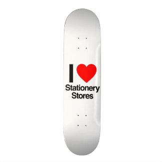 eu amo lojas dos artigos de papelaria skate