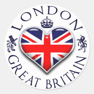 Eu amo Londres Adesivo Redondo