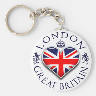 Eu amo Londres Chaveiro