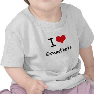 Eu amo luvas tshirt