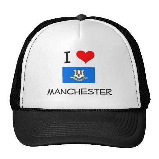 Eu amo Manchester Connecticut Bonés