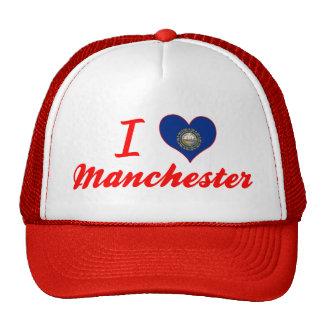 Eu amo Manchester New Hampshire Boné